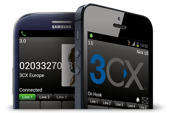 3CX Smart Phone App on Hosted 3cxhost VoIP platform